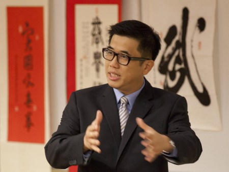 master-william-kwok-explaining-martial-arts-education-at-hong-kong-baptist-university